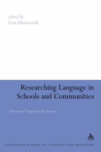Download Researching Language in Schools and Communities