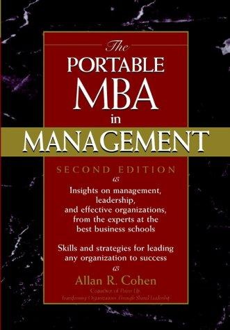Download The portable MBA in management