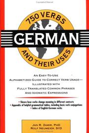 750 German Verbs and Their Uses (750 Verbs & Their Uses)