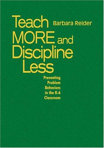 Download Teach More and Discipline Less