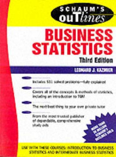 Download Schaum's outline of theory and problems of business statistics