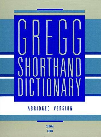 Download Gregg shorthand dictionary