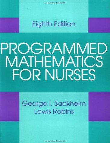 Download Programmed mathematics for nurses