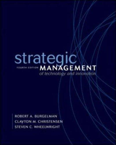 Download Strategic Management of Technology and Innovation