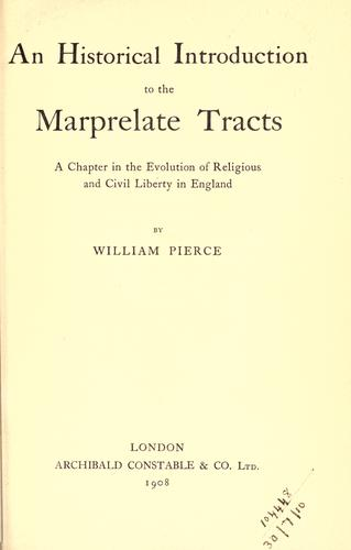 Download An historical introduction to the Marprelate tracts