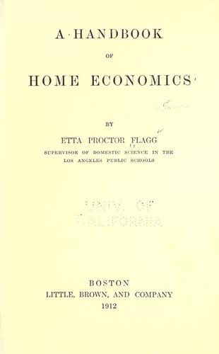 A handbook of home economics