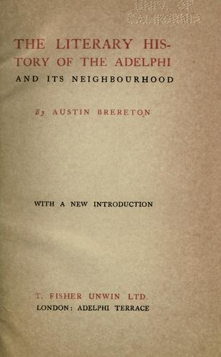 Download The literary history of the Adelphi and its neighborhood