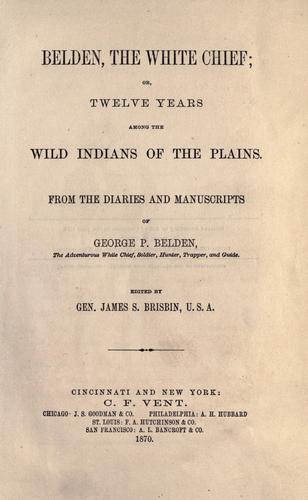 Belden, the white chief