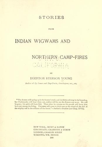 Download Stories from Indian wigwams and northern camp-fires