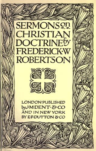 Download Sermons on Christian doctrine