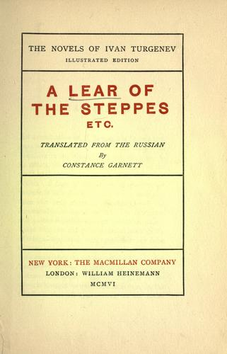 Download A Lear of the steppes, etc.