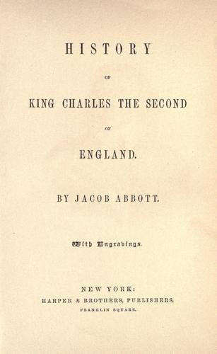 Download History of King Charles the Second of England.
