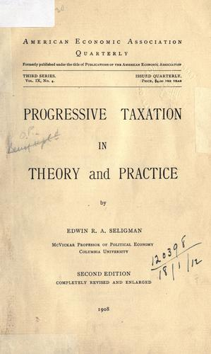 Download Progressive taxation in theory and practice.