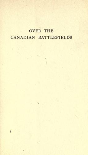 Download Over the Canadian battlefields
