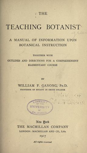 Download The teaching botanist.