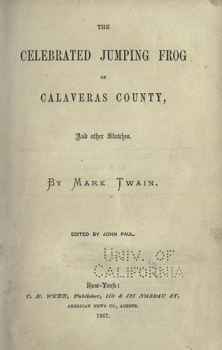 Download The  celebrated jumping frog of Calaveras County.