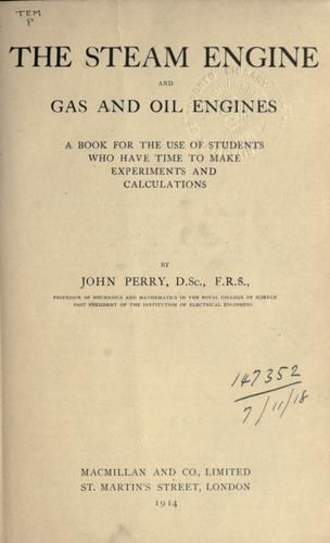 The steam engine and gas and oil engines