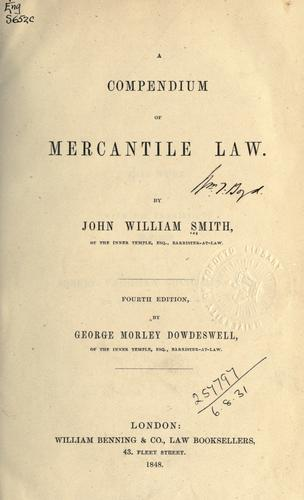Download A compendium of mercantile law.