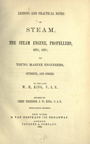 Download Lessons and practical notes on steam, the steam engine, propellers, etc., etc.
