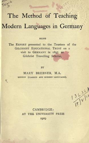 The method of teaching modern languages in Germany