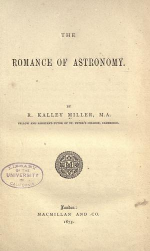 Download The romance of astronomy