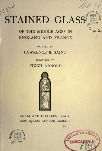 Download Stained glass of the Middle Ages in England and France
