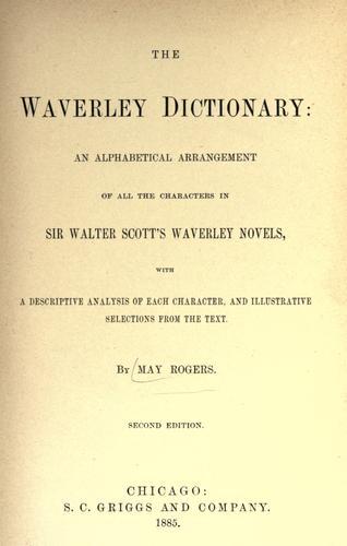 The Waverley dictionary.