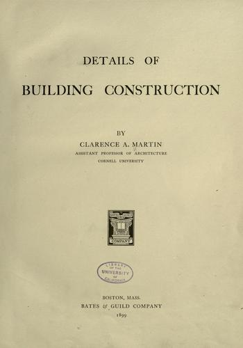 Download Details of building construction