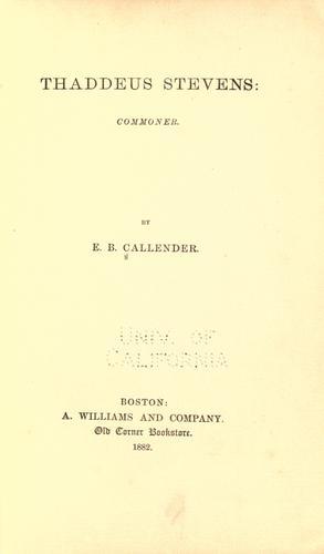 Download Thaddeus Stevens: commoner.