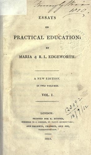 Essays on practical education.