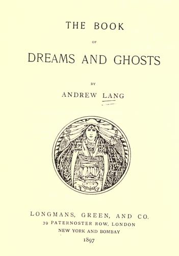 Download The book of dreams and ghosts