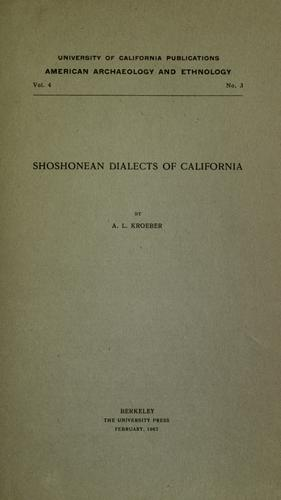 Download Shoshonean dialects of California.