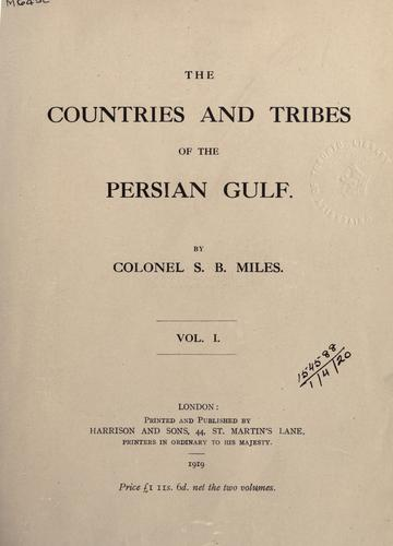 Download The countries and tribes of the Persian Gulf.