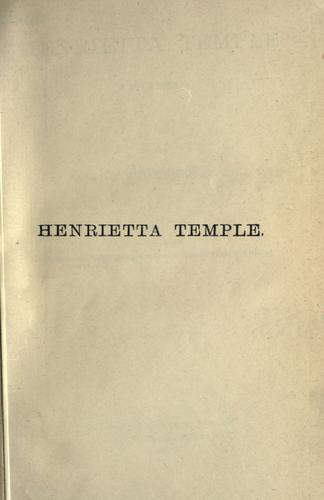 Download Henrietta Temple, a love story.