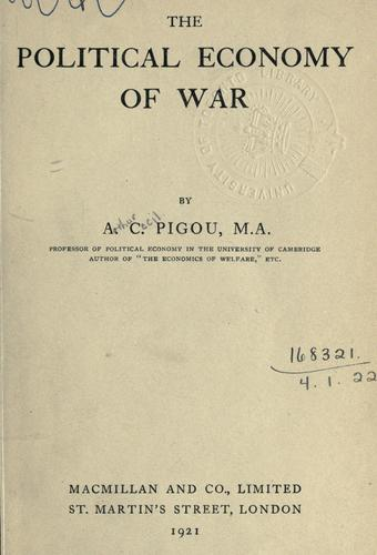 Download The political economy of war.
