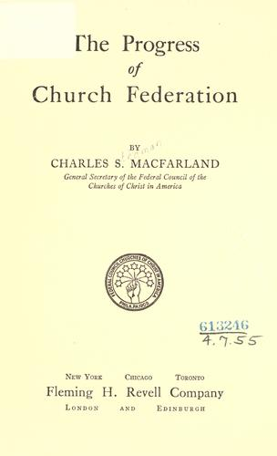 Download The progress of church federation.