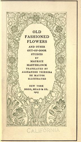Download Old fashioned flowers, and other out-of-door studies