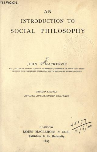 Download An introduction to social philosophy.