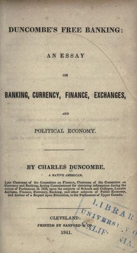 Download Duncombe's free banking