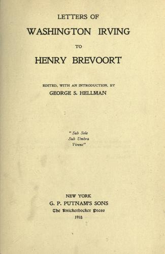 Download Letters of Washington Irving to Henry Brevoort