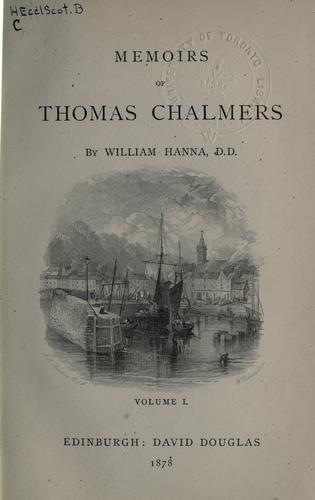 Memoirs of Thomas Chalmers.