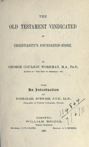 Download The Old Testament vindicated as Christianity's foundation-stone