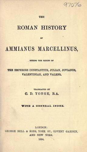 Download The Roman history of Ammianus Marcellinus