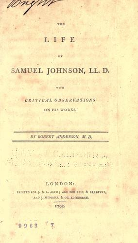 Download The Life of Samuel Johnson, LL. D.