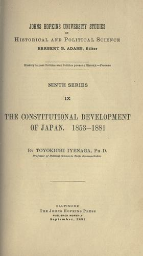 Download The constitutional development of Japan, 1853-1881.