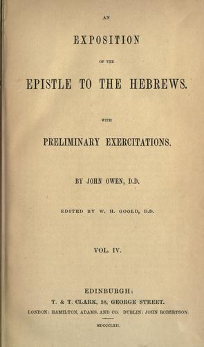 Download The works of John Owen, Vol IV