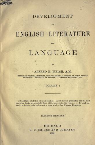 Development of English literature and language.