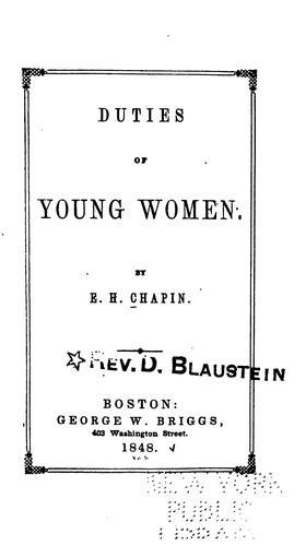 Duties of Young Women