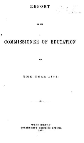 Report of the Commissioner of Education