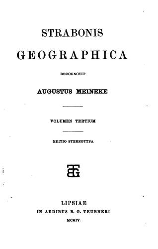 Download Strabonis Geographica